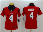Houston Texans #4 Deshaun Watson Women's Red Vapor Untouchable Limited Jersey