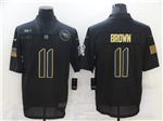Tennessee Titans #11 A.J. Brown 2020 Black Salute To Service Limited Jersey