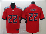 Tennessee Titans #22 Derrick Henry Red Inverted Limited Jersey