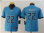 Tennessee Titans #22 Derrick Henry Youth Light Blue Vapor Limited Jersey