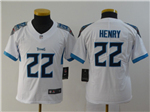 Tennessee Titans #22 Derrick Henry Youth White Vapor Limited Jersey