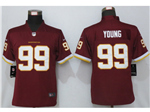 Washington Football Team #99 Chase Young Women's Burgundy Vapor Limited Jersey