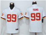 Washington Football Team #99 Chase Young Women's White Vapor Limited Jersey