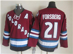 Colorado Avalanche #21 Peter Forsberg 2002 CCM Vintage Burgundy Jersey