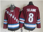 Colorado Avalanche #8 Teemu Sel?nne 2002 CCM Vintage Burgundy Jersey