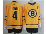 Boston Bruins #4 Bobby Orr Yellow 2020/21 Reverse Retro Jersey