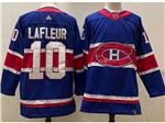 Montreal Canadiens #10 Guy Lafleur Royal Blue 2020/21 Reverse Retro Jersey