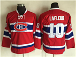 Montreal Canadiens #10 Guy Lafleur Youth CCM Vintage Red Jersey