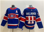 Montreal Canadiens #11 Brendan Gallagher Royal Blue 2020/21 Reverse Retro Jersey