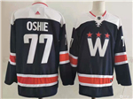 Washington Capitals #77 T.J. Oshie Navy 2020/21 Alternate Jersey