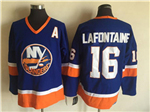 New York Islanders #16 Pat LaFontaine CCM Vintage Blue Jersey