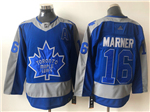 Toronto Maple Leafs #16 Mitchell Marner Blue 2020/21 Reverse Retro Jersey