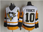 Pittsburgh Penguins #10 Ron Francis 1992 Vintage CCM White/Gold Jersey