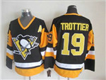 Pittsburgh Penguins #19 Bryan Trottier 1992 Vintage CCM Black/Gold Jersey