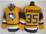 Pittsburgh Penguins #35 Tom Barrasso 1980's Vintage CCM Gold Jersey