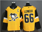 Pittsburgh Penguins #66 Mario Lemieux Alternate Gold Jersey