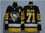 Pittsburgh Penguins #71 Evgeni Malkin Black Jersey