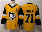 Pittsburgh Penguins #71 Evgeni Malkin Alternate Gold Jersey