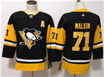 Pittsburgh Penguins #71 Evgeni Malkin Youth Black Jersey
