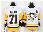 Pittsburgh Penguins #71 Evgeni Malkin White Jersey