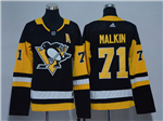 Pittsburgh Penguins #71 Evgeni Malkin Women's Black Jersey