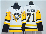 Pittsburgh Penguins #71 Evgeni Malkin Women's White Jersey