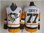 Pittsburgh Penguins #77 Paul Coffey 1992 Vintage CCM White/Gold Jersey