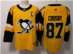 Pittsburgh Penguins #87 Sidney Crosby Alternate Gold Jersey