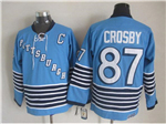 Pittsburgh Penguins #87 Sidney Crosby 1967 Vintage CCM Blue Jersey