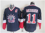 New York Rangers #11 Mark Messier 1998 CCM Liberty Logo Navy Blue Jersey
