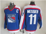 New York Rangers #11 Mark Messier 1977 CCM Throwback Blue Jersey