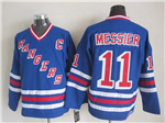 New York Rangers #11 Mark Messier CCM Royal Blue Heroes of Hockey Alumni Jersey