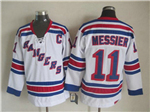 New York Rangers #11 Mark Messier CCM Vintage White Jersey