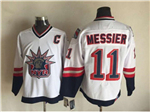 New York Rangers #11 Mark Messier 1998 CCM Liberty Logo White Jersey