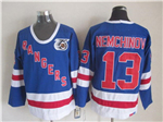New York Rangers #13 Sergei Nemchinov CCM 75th Blue Jersey