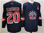 New York Rangers #20 Chris Kreider Navy 2020/21 Reverse Retro Jersey