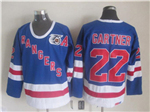 New York Rangers #22 Mike Gartner CCM 75th Blue Jersey