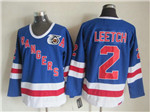 New York Rangers #2 Brian Leetch CCM 75th Blue Jersey