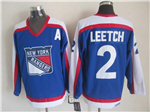New York Rangers #2 Brian Leetch 1977 CCM Throwback Blue Jersey