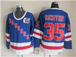 New York Rangers #35 Mike Richter CCM 75th Blue Jersey