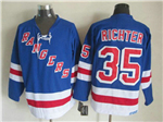 New York Rangers #35 Mike Richter CCM Vintage Blue Jersey