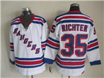 New York Rangers #35 Mike Richter CCM Vintage White Jersey