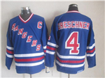 New York Rangers #4 Ron Greschner CCM Royal Blue Heroes of Hockey Alumni Jersey