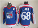 New York Rangers #68 Jaromir Jagr 1977 CCM Throwback Blue Jersey