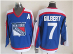 New York Rangers #7 Rod Gilbert 1977 CCM Throwback Blue Jersey