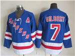 New York Rangers #7 Rod Gilbert CCM Vintage Blue Jersey