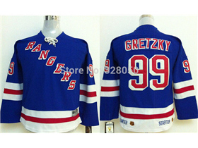 quality design 75174 efa00 New York Rangers #99 Wayne Gretzky Youth CCM Vintage Royal ...