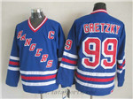 New York Rangers #99 Wayne Gretzky CCM Royal Blue Heroes of Hockey Alumni Jersey