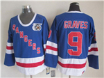 New York Rangers #9 Adam Graves CCM 75th Blue Jersey