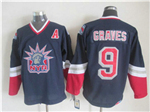 New York Rangers #9 Adam Graves 1998 CCM Liberty Logo Navy Blue Jersey